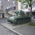 ナルヴィク市内の戦争博物館前の戦車