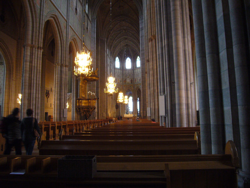 ウプサラの大聖堂の内部