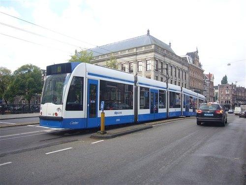 アムステルダム市内のトラム