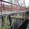 道沿いにあった古い木橋