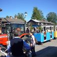 夏至祭会場を走っていたトラクター列車