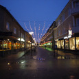 イルミネーションが灯された中央商店街