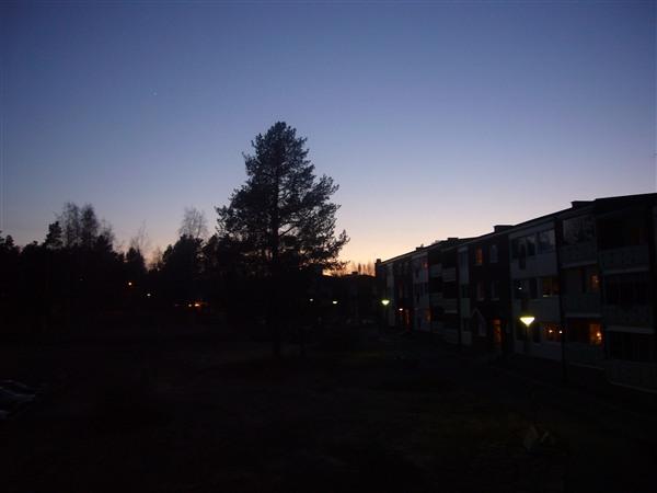 午後10時ころの空