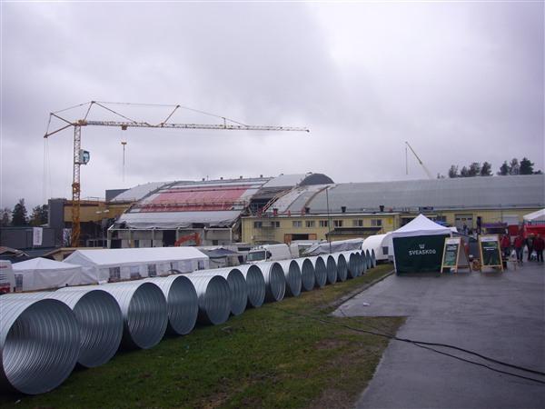 改修工事中のアイスホッケースタジアム