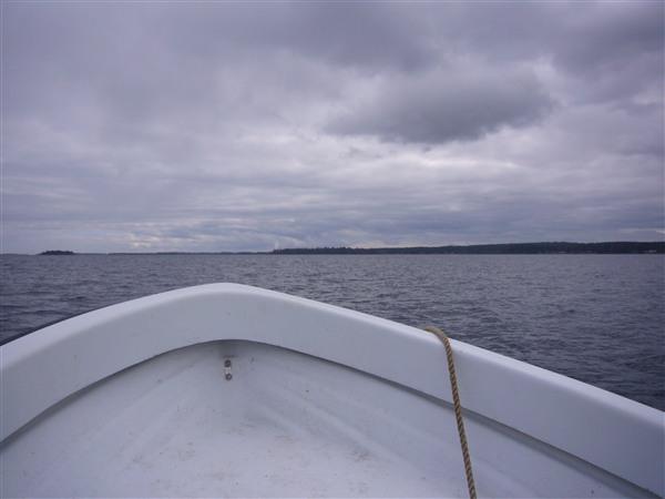 沖へ向かう